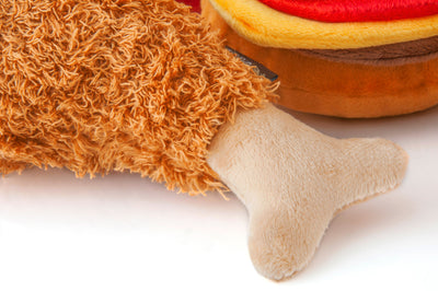 Fluffy's Fried Chicken Plush Toy
