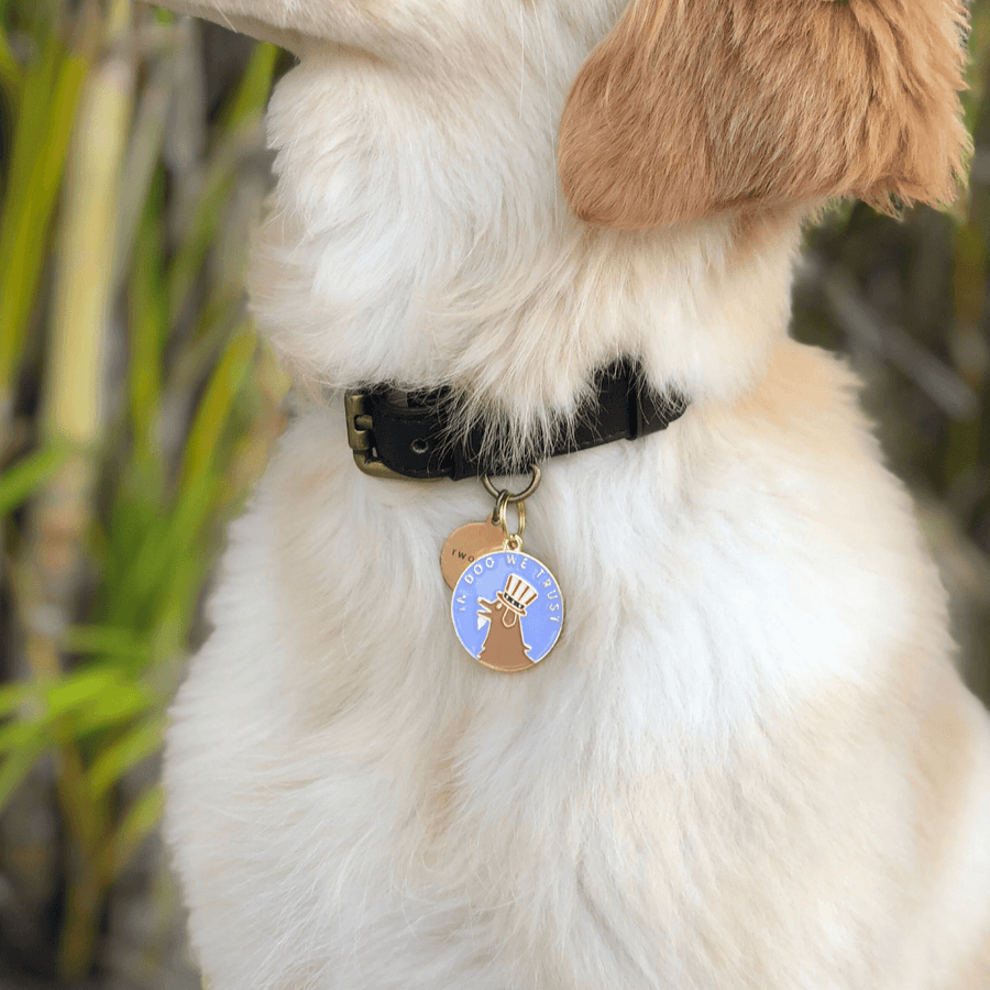 In Dog We Trust Enamel Charm / ID Tag (Free Custom Engraving) Charms Two Tails