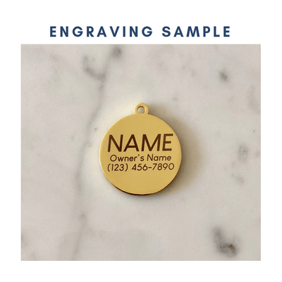Treat Yo Self Black Enamel Charm / ID Tag (Free Custom Engraving)