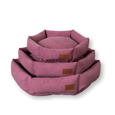 Hex Cushion Bed in Rugged Canvas - Sunset