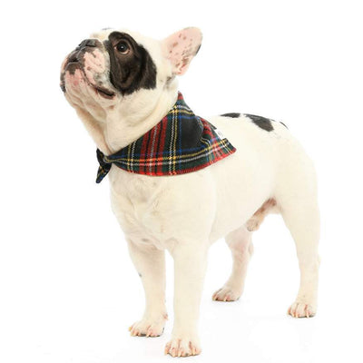Stewart Plaid Wool Bandana