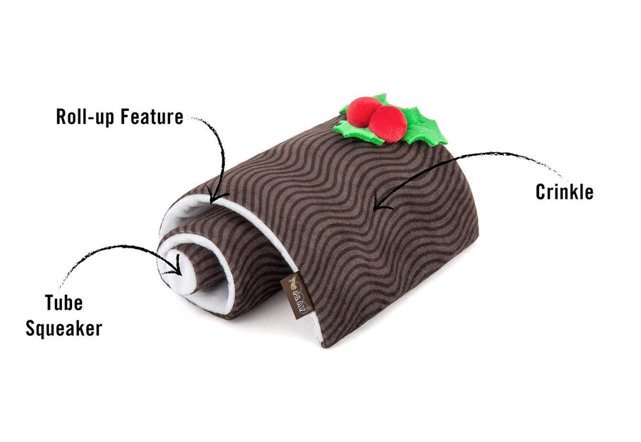 Yule Log Holiday Dog Toy