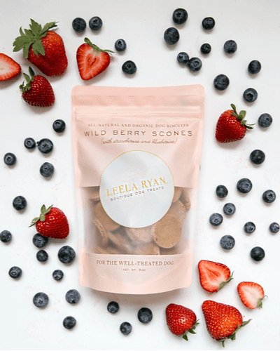 Wild Berry Scones All-Natural Dog Biscuits