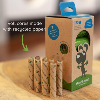 Earth Rated Dog Waste Bags (120 bags) - Unscented