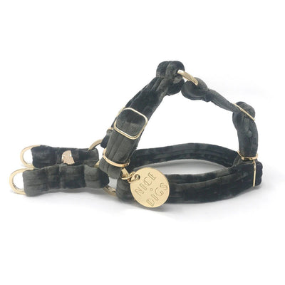Velvet Dog Harness - Sage