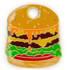 Hamburger ID Tag (Free Custom Engraving!) Charms Trill Paws