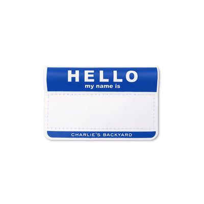 Hello Name Tag - Blue