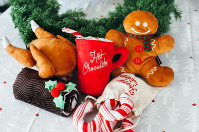 Hot Chocolate Holiday Dog Toy