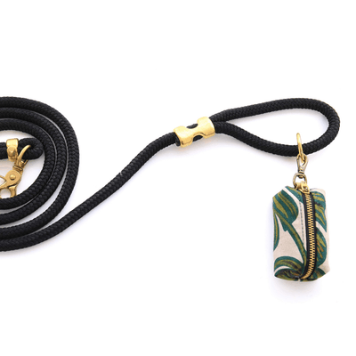 Monstera Leaves Canvas Leash Bag