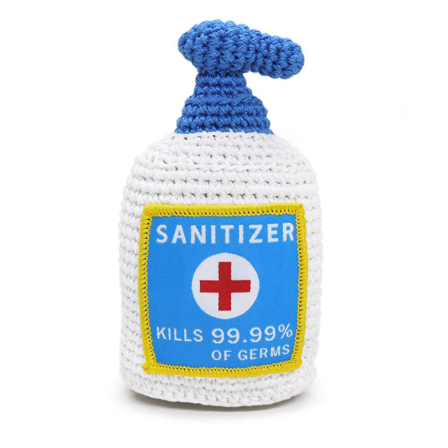 Hand Sanitizer Squeaky Dog Toy