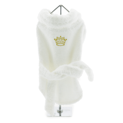 Terry Luxury Cotton Bathrobe - Gold Crown