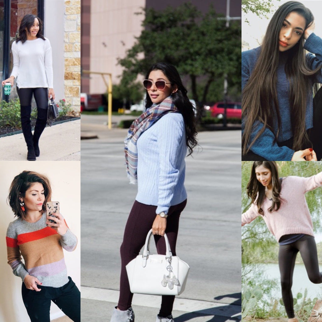 Spring Petite Styles, Sweaters and Leggings Blog Post