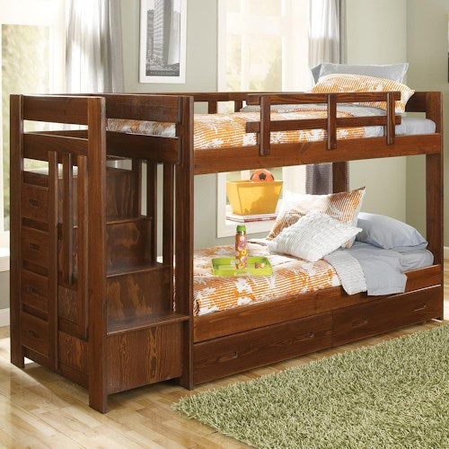 Cherry XSth154r Reversible Staircase Twin Bunkbed