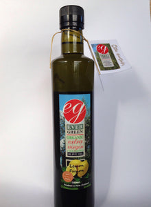 Evergreen, 500ml Organic lemon-fused Extra Virgin Olive Oil, Kaikohe, NZ - twisted-tree-nz-olive-oil