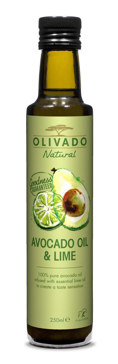 Olivado, 250ml Lime Infused Natural Avocado Oil, Kerikeri, NZ - twisted-tree-nz-olive-oil