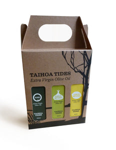Taihoa Tides, Olive Oil Gift Set, Parua Bay, Northland, NZ - twisted-tree-nz-olive-oil