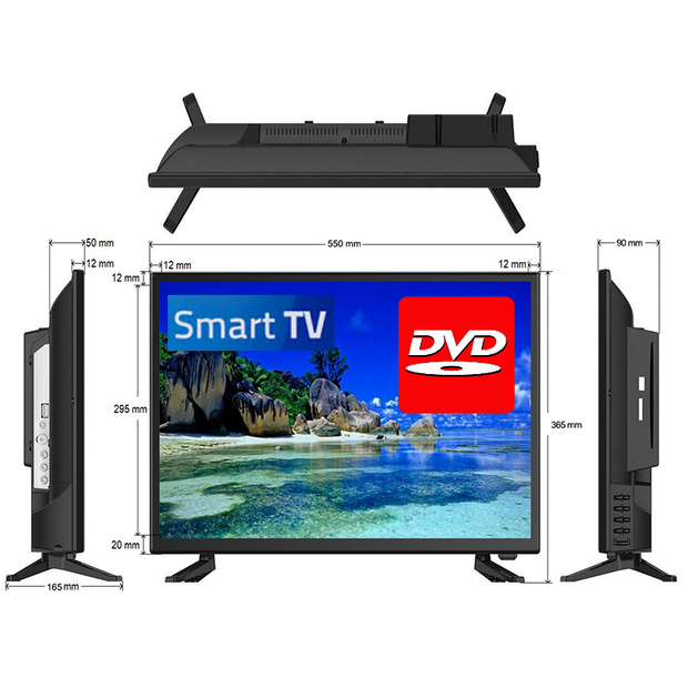 "24"" Full HD LED Television / Smart Wi-Fi TV + HD Tuner + DVD Player 12V/24V/240V - Englaon Australia"