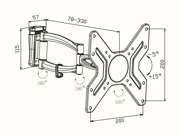 "Full Motion Wall Mount Extendable Arm Design For 14-42"" TVs - Englaon Australia"