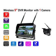 "DVR Monitor 9"" Digital Wireless with 1 to 4 Reverse Cameras - 12/24/36V for Caravan/Truck/Bus/Boat - Englaon Australia"