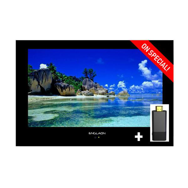 "19"" Waterproof Television / HD LED Mirror/Black/White 12V/240V - Englaon Australia"