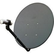 Satellite Dish 75cm for MyStar & Foxtel IQ with 2X10M Cable and a Dual Output LNB with Tin Roof Mount - Englaon Australia