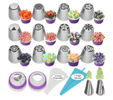 Russian Piping Tips Flower & Leave 27pcs set