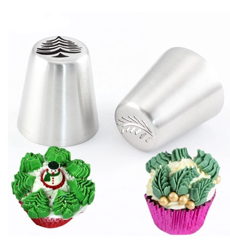 Christmas Tree Russian Icing Piping Tips 2Pcs