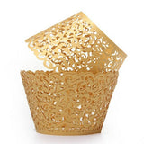 Lace Wedding Cupcake Wrappers 50pcs