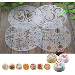 Stencils Cake Mold 4pcs/lot