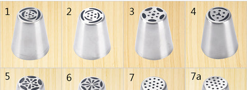 68 Style Russian Piping Tips Nozzles