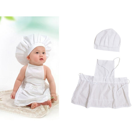 Cute Baby Chef Apron & Hat
