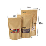 10 Pcs Kraft Paper Self-sealing Zip lock Bag