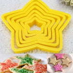 6Pcs/set Christmas Tree Cookie Cutter
