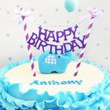 Bowknot Happy Birthday Cake Topper