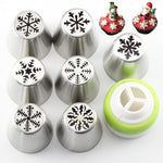 7Pcs Christmas  Icing Russian Piping Tips