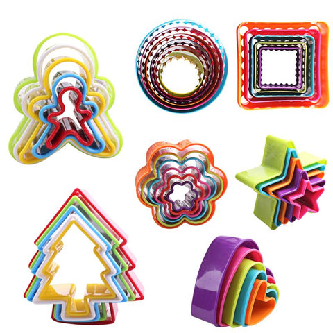 3D Christmas Cookie Cutter 5pcs