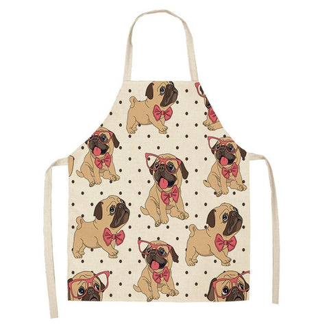 BullDog Dog Print Aprons
