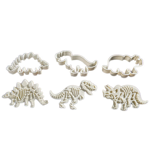 Fossil Dinosaur Chocolate Mold Cookie Cutter  3pcs