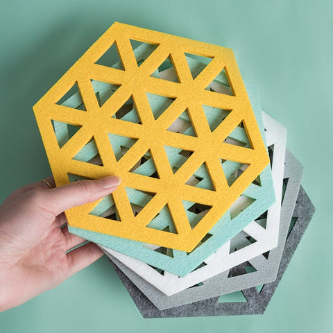 5 Pcs Hexagon Cup Mat