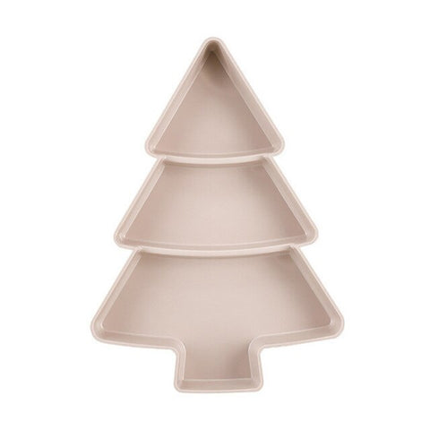 Christmas Tree Shape Snacks Plastic Plates