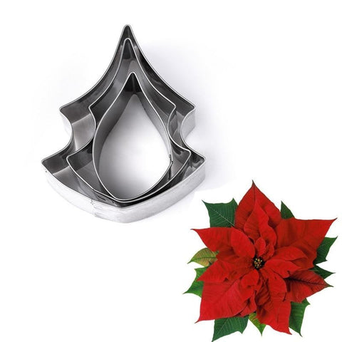 Poinsettia Flower Cookie Cutter