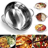 Stainless Steel Divided Pot 38cm