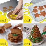 6pcs/set Star Shaped Cake Cutter Mold