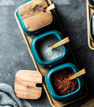 Nordic Marbled Ceramic Seasoning Jars