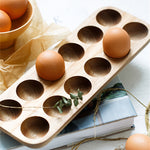 Egg Wooden Tray