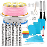 Set Turntable Pastry Spatulas Nozzle For Cake