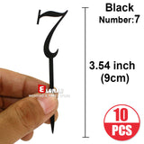 Acrylic Number cake Topper 10pcs