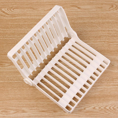 Foldable Plate Drying Rack Organizer