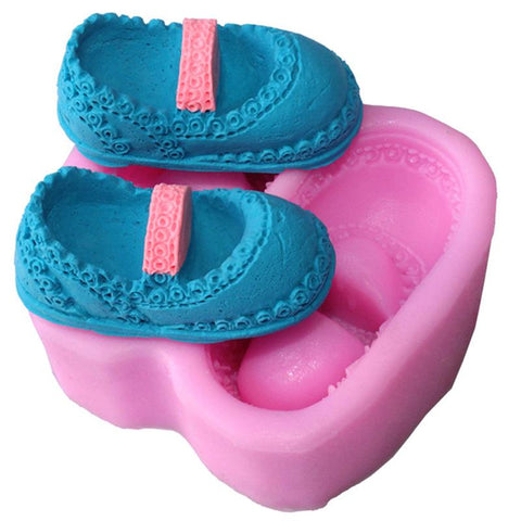 Silicone Baby Shoes Cake Mold