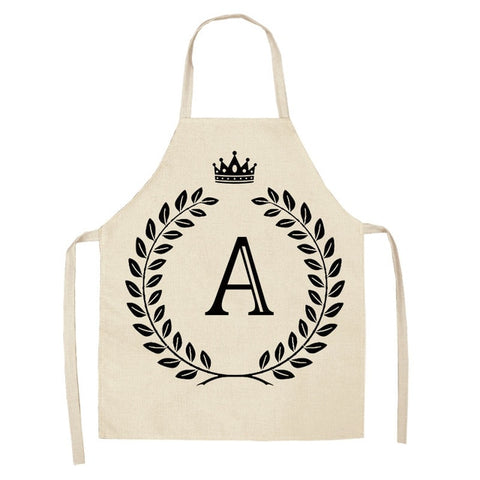 Crown Letter Printed Kitchen Apron